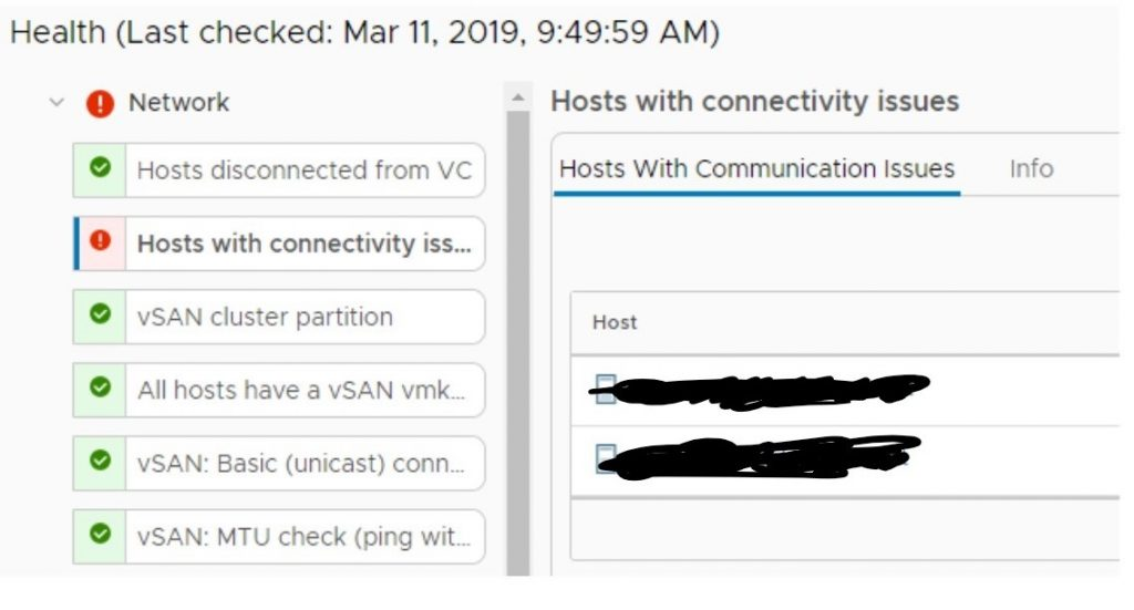 "vSAN Health: ""Hosts with connectivity issues"" – vMoller dk"